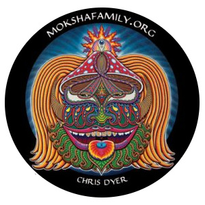 Chris Dyer Moksha Symbol Sticker