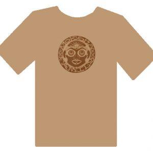 Bhakti Moksha Symbol Shirt Tan